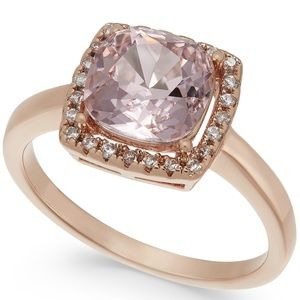 Charter Club Rose - Gold Crystal Square Halo Ring